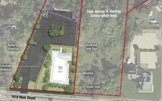 The site plan for a senior center at 1610 Main St.  (photo: )