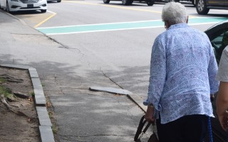 Some of Chatham's downtown sidewalks are in poor condition and don't comply with the Americans With Disabilities Act. Officials say a comprehensive plan to upgrade sidewalks around town is in the works, but the town is powerless to make improvements to sidewalks along Route 28, which is a state road. TIM WOOD PHOTO  (photo: )