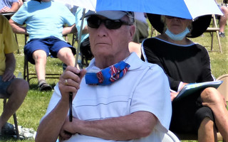Ken McKusick had a front row seat at the outdoor annual town meeting in June (pictured) and at last week's Nauset Beach special town meeting.  ED MARONEY PHOTO  (photo: Ed Maroney)