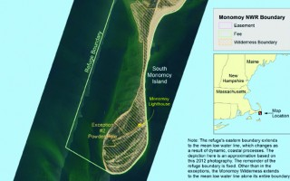 Chatham officials say the Nantucket Sound boundary of the Monomoy National Wildlife Refuge shown here was always meant as the westernmost limit within which land above mean low water would be included in the refuge. Selectman Seth Taylor testified on the issue before a House subcommittee last week in Washington, D.C.  (photo: )