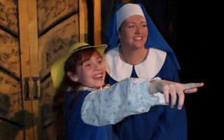 "Angelina Cuthbert Manchuk and Bridget Williams in ""Madeline's Christmas"" at Harwich Junior Theatre.  (photo: )"