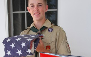 Eagle Scout candidate David Van Sickle created repositories for old American flags. ALAN POLLOCK PHOTO  (photo: Alan Pollock)