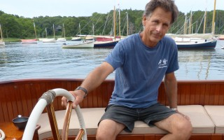 Arey's Pond Boat Yard owner Tony Davis, lead designer of the 24-foot catboat Libellule, is an advocate of the profession (or is it an art?) of wooden boat building. ED MARONEY PHOTO  (photo: )