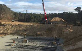 Excavation and foundation installation continues at the site of the wastewater treatment facility.  AECOM PHOTO  (photo: )