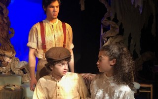"Seamus Sartin as Miles Tuck, Quinn Schuler as Jesse Tuck and Olivia Thompon as Winnie Foster in the Cape Cod Theatre Company's production of ""Tuck Everlasting."" COURTESY PHOTO  (photo: )"
