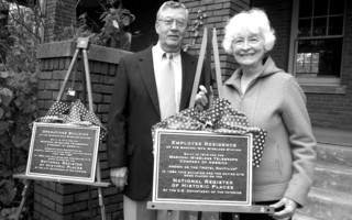 In this 2006 photo Chatham Historical Commission Chairman Donald Aikman and Roselyn Coleman, president of the Chatham Marconi Maritime Center unveiled plaques commemorating the history of two of the buildings at the town-owned MCI property. FILE PHOTO  (photo: unknown)