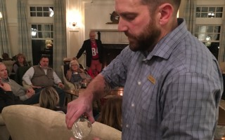 Adam Coutu mixes beer into a cocktail at Chatham Bars Inn's Friday night mixology class. JAN SIDEBOTHAM PHOTO      (photo: )