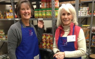 Family Pantry volunteers Anne Schulte (left) and Sherry Greene-Starr.  DEBRA LAWLESS PHOTO  (photo: Debra Lawless)