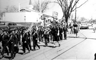 Memorial Day Parade, Stage Harbor Road, Chatham. Ho Jo's in the background. Den mothers Mary Wills wearing white gloves and Carol Kelley (far left). 1966. PHOTO COURTESY OF RON KELLEY  (photo: )