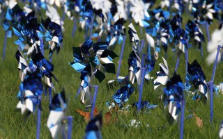 Pinwheels in honor of Child Abuse Awareness Month (April) blow in a breeze. This school year Children's Cove in Barnstable, which offers services to victims of childhood sexual and physical abuse, helped establish a new TASK (Taking A Stand for Kids) Force at Nauset Regional High School. Courtesy Photo  (photo: )