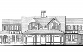 This schematic shows the proposed design of the east elevation – overlooking Shore Road – for the iconic home at 233 Seaview St. The main change to the central, historic section of the house is the addition of larger dormers, which were a concern for historical commission members. POLHEMUS SAVERY DASILVA DESIGN VIA CHATHAM HISTORICAL COMMISSION  (photo: )