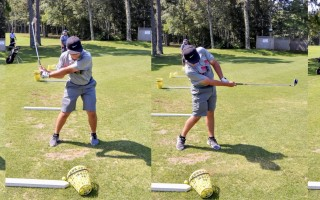Jake Poitras takes a swing at the driving range at Cranberry Valley a few days after winning the Cape Cod Junior Golf Association Tournament at Olde Barnstable on July 13. Kat Szmit Photo  (photo: Picasa)