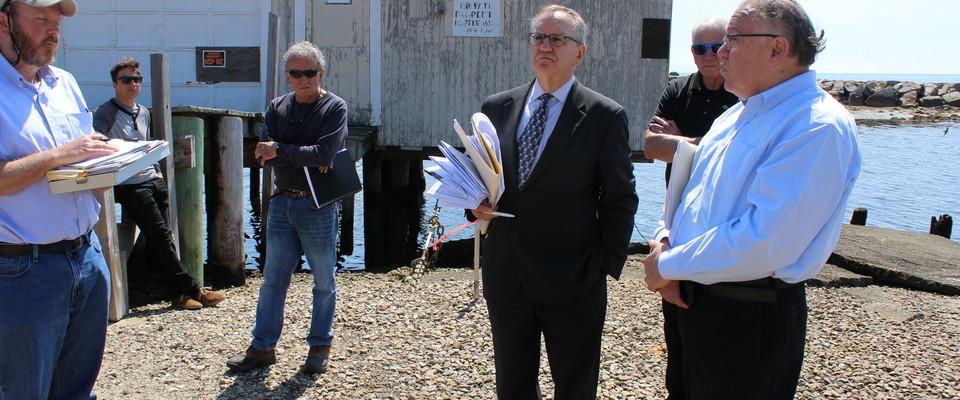 DEP Conducts Onsite Hearing At Herring River Shellfish Lab Cape