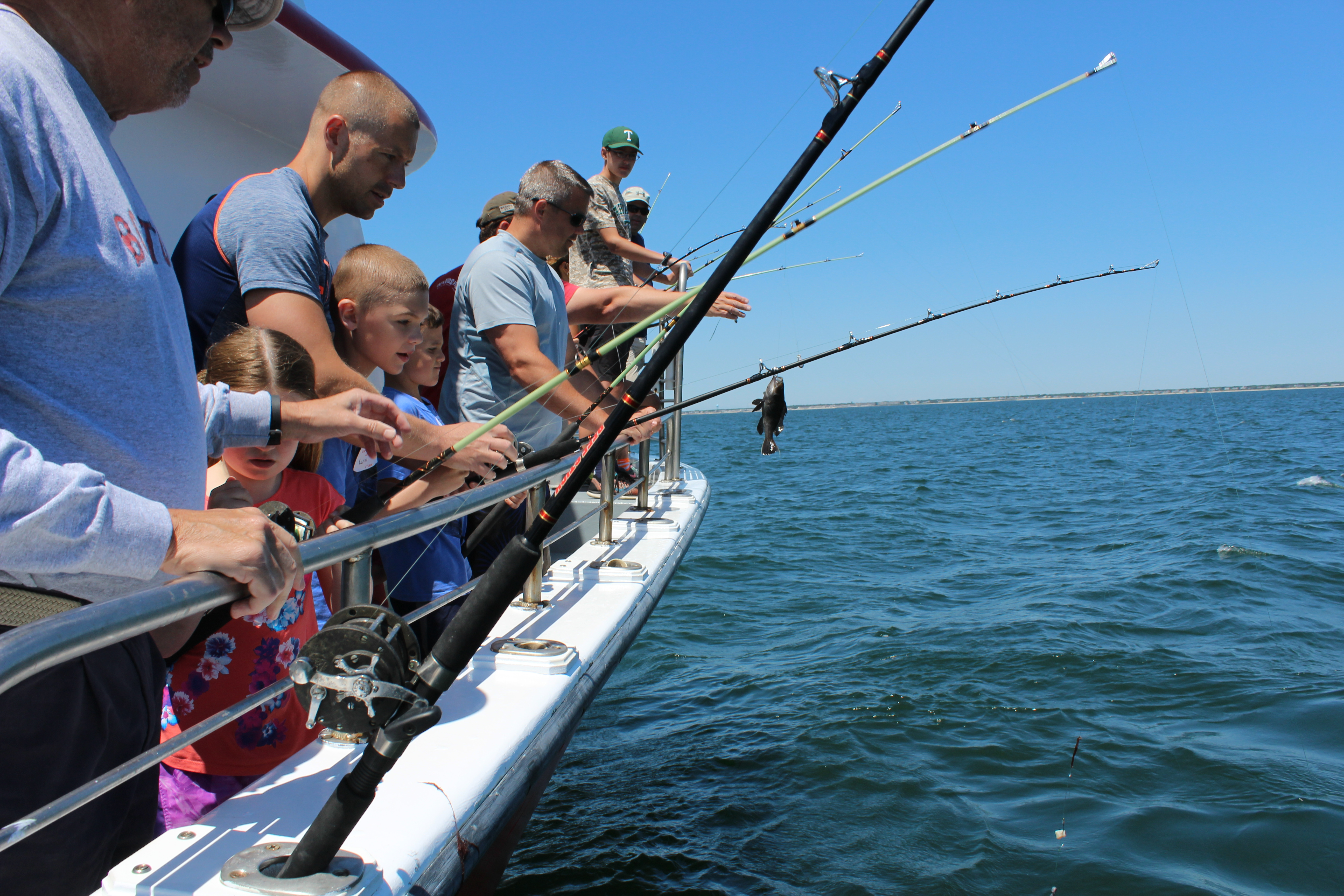 New artificial reef provides a productive day of fishing for Cape cod fishing party boats