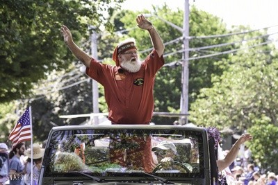 Santa swept in from the North Pole just in time for the Chatham Fourth of July Parade.  KAT SZMIT PHOTO
