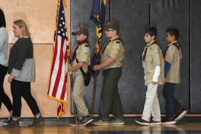 As always, Boy Scouts were part of the observance.