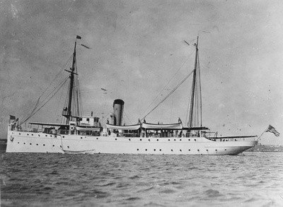 Commissioned as the Cutter Miami in 1912, the ship changed its name to the Tampa in 1917. U.S. COAST GUARD